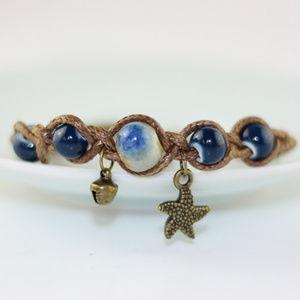 Ceramic beads handcraft bracelets rope star fish